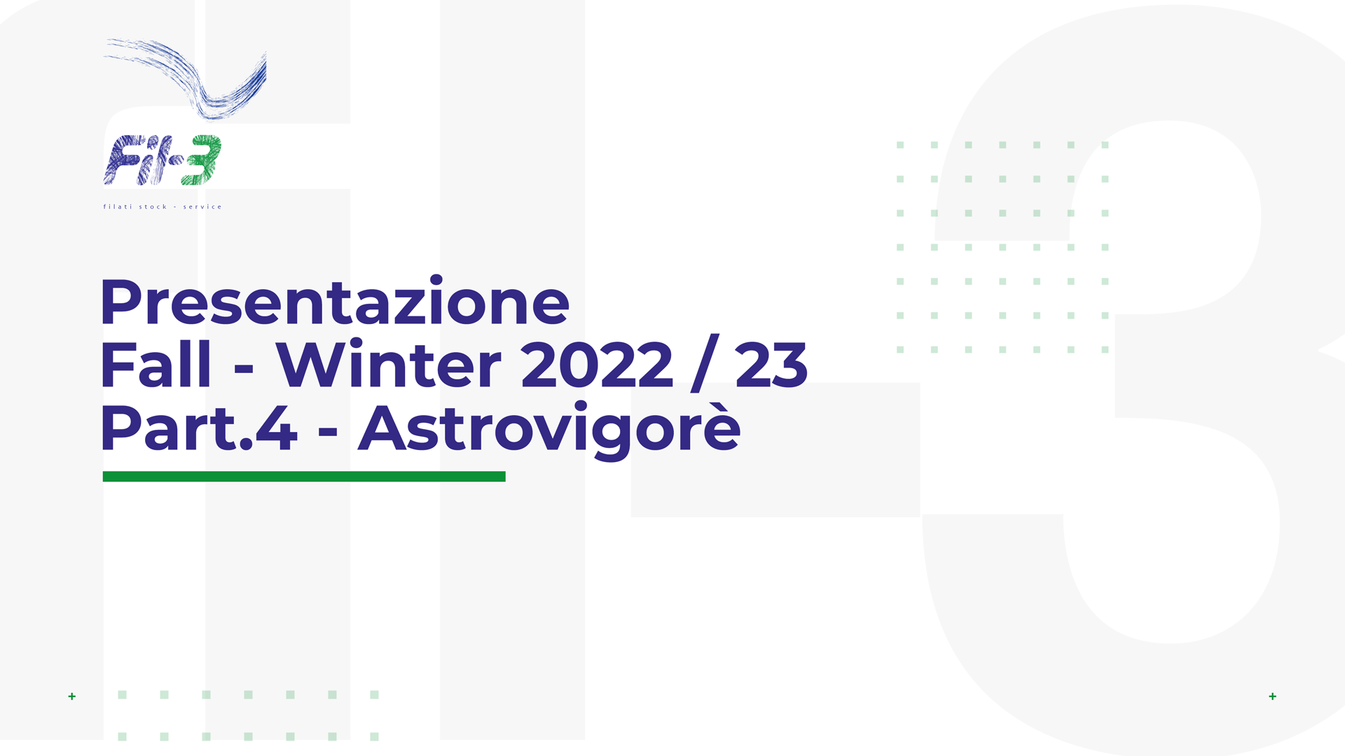 Weekly Collection Autunno Inverno 22-23 Astrovigorè