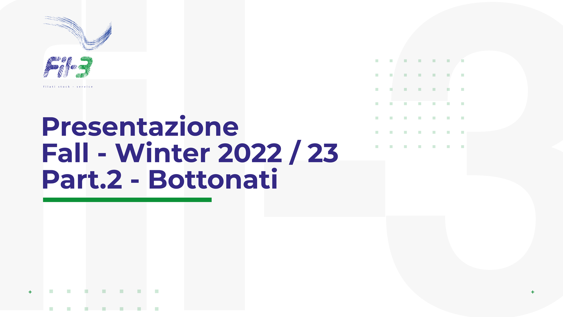 Weekly Collection Autunno Inverno 22-23 Bottonati