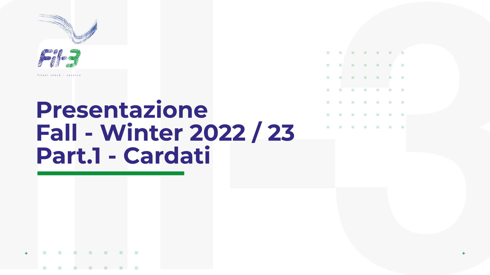 Weekly Collection Autunno Inverno 22-23 Cardati